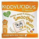 Kiddylicious Mango, Banana and Passion Fruit Smoothie Melts 6g, (Pack of 16)