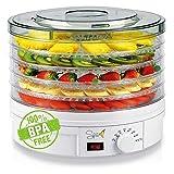Spice Teseko Déshydrateur pour aliments, comprend 5compartiments ajustables et un bouton pour régler la température (de 35 à 70degrés)