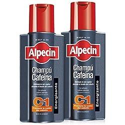 Alpecin Champú Cafeína C1, Champú anticaída - 2 x 250ml = 500ml