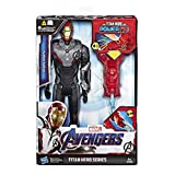 Hasbro Marvel Avengers- Endgame Iron Man Titan Hero con Power FX Incluso, Multicolore, 30 cm, E3298103