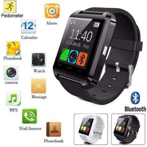 Motorola Photon Q 4G LTE Bluetooth Smartwatch (Black) With Supporting Apps Like Twitter, Whats App, Pedometer by Zoon