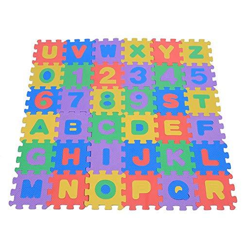 Zerodis- 36pcs Schiuma Morbido Eva Infantile Gioca ai Tappetini per Puzzle Numeri e Lettere Giocando...