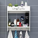 Bagno Applique da parete per bagno Apparecchi da bagno per rack Armadietto per asciugamani Deposito cosmetico per rack ( Colore : B )