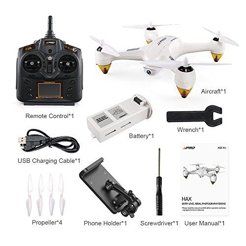 RONSHIN Droni JJRC JJPRO X3 HAX RC Quadcopter Dron Dual-Mode WiFi FPV GPS RC Quadcopter Toy Droni con videocamera HD 1080P RTF Senza spazzole 1 Batteria