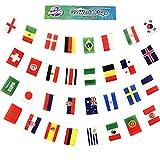 Bannière de la Coupe du monde Russie 2018, 10m de long avec les drapeaux des 32 équipes participantes