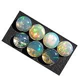 Rasiyo opale etiope 7PZ. Naturale opale etiope pietra preziosa cabochon 6x 6mm etiope opale di fuoco lotto a20K 2247