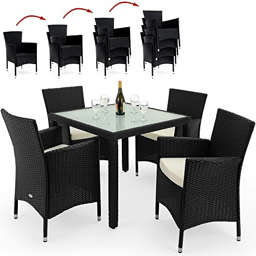 Poly Rattan Garden Furniture Dining Table And Chairs