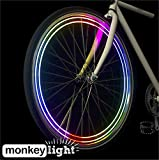 MonkeyLectric Unisex's M204 Bike Wheel Light, Multi-Colour, Small