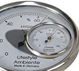 Lifestyle-Ambiente Profi - Haar - Hygrometer silber-groß Made in Germany