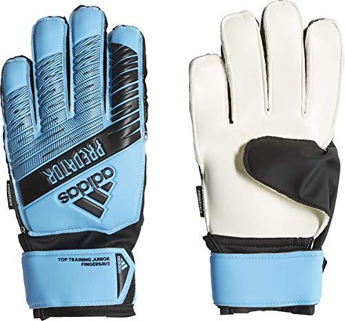 adidas Predator Top Training Fingersave Junior, Goalkeeper Gloves Bambino, Bright Cyan/Black, 6.5
