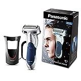 Panasonic ES-SL41-S503 - Afeitadora en seco y húmedo, 3 hojas, 3 cabezales con cuchillas nano pulidas de 30°, plateado