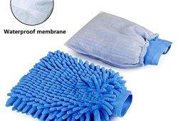 Aodoor (2 pièces) Voiture Wash Mitt, Microfibre chenille car wash mitt gants corail velours absorbant wet/ dry clean, lavage de voiture nettoyage Gant Wash Mitt, 26 cm x 19 cm (Bleu) Prix