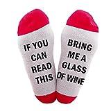 El mejor regalo Calcetines causales divertidos Calcetines navideños Si puedes leer el Regalo navideño para los amantes, amigos, mamá y padre, estos calcetines Cotton Xmas (tamaño libre, verde)