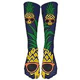 Kaixin J Men Novelty Cool Pineapple Skull Casualover The Calf Sock Athletic Crew Football Soccer Stocking Long Socks Unisex