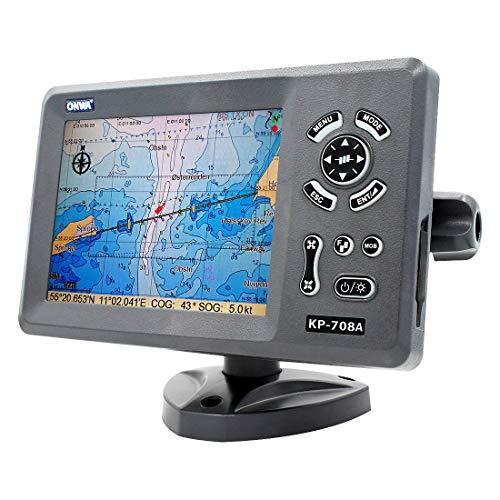 ONWA KP-708A 7-inch Color LCD GPS Chart Plotter Built-in Class B AIS Transponder Combo High Sensitivity LCD a Colori Classe B AIS Transponder Combo Alta MARINO GPS Navigator