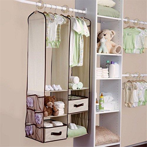 Organizzatore da armadio, da appendere, organizzatore per armadio della stanza dei neonati, set...
