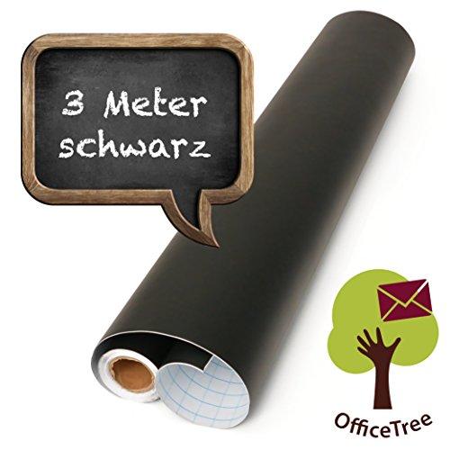 OfficeTree Lavagna Adesiva nero - rotolo da 300 cm - autoadesivo - larghezza 43 cm - lavagna nera -...