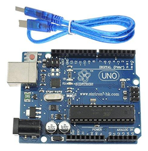 512zBaeLfyL - [Sintron] Arduino Uno R3 Board Starter Kit with PDF files & Tutorial CD en español + Transparent Acrylic Case LCD Servo Motor Sensor Module etc, for Arduino Starter Learner
