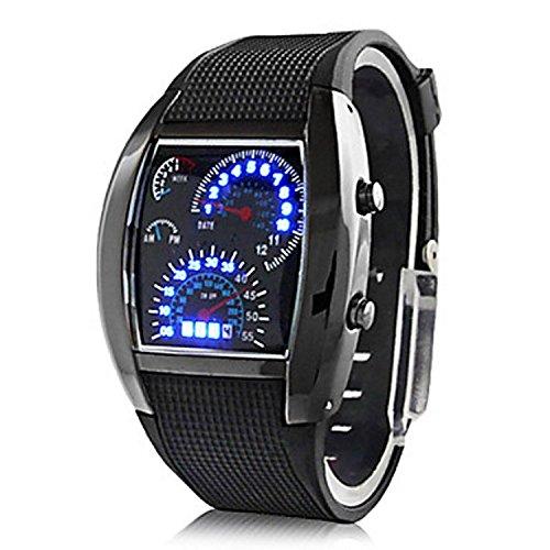 Shvas Digital Black Dial Men's Watch - JMDPILOT