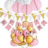 Die von TopDeko in rosa gehaltenen Geburtstagsdekorationen sind für Mädchen erwünscht und machen jede Party lebendiger und angenehmer. Perfekte Dekorationen, die jeder Party einen besonderen Touch verleihen. 13x Alles Gute zum Geburtstag Papier Garla...