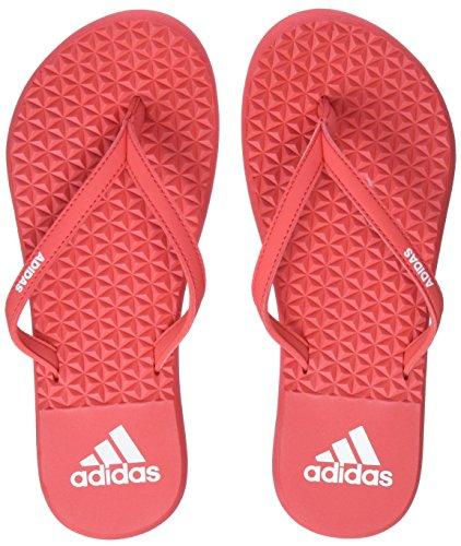 adidas Eezay Flip Flop, Scarpe da Spiaggia e Piscina Donna, Rosso Real Coral/Footwear White, 39 EU