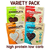 Delicious Coated Pumpkin Seed Snacks - High Protein Low Carb, Low Sugar, High Fibre, Natural Ingredients (Variety Pack) (4 x 30g)
