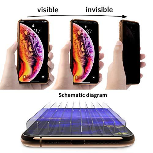 Benks Verre Trempé Anti Espion pour iPhone XS Max Privacy Film de Protection Écran Complet 3D Vitre Protecteur Anti Rayures Ultra Résistant ... 24