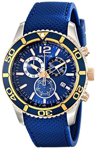 Nautica Orologio Cronografo Quarzo Uomo con Cinturino in Gomma NAD16502G