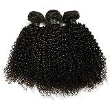 BLISSHAIR Lot de 3 Bresilienne Virgin Hair Baby Deep 12' court cheveux...