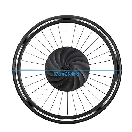 YUNZHILUN Ruota,Ruota Bici elettrica 700c,Bicicletta Ruota,Anteriore Elettrico,Bluetooth 4.0 per...