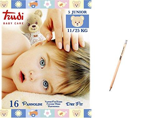 IRPot - 6 PACCHI PANNOLINI TRUDI BABY CARE DRY FIT (TG.5 JUNIOR 11-25 KG)