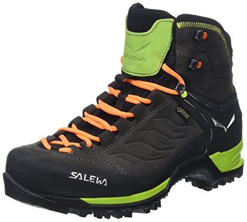 Salewa Ms Mtn Trainer Mid Gtx, Herren Trekking- & Wanderstiefel, Schwarz (Black/Sulphur Spring 0974), 44 EU