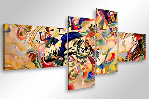 Quadro Moderno KANDINSKY COMPOSIZIONE VII - cm 160x70 Stampa su Tela Canvas Arredamento Arte Arredo...