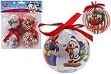 Disney Mickey & Minnie Mouse palle di Natale 4tlg. Albero di Natale ø8cm