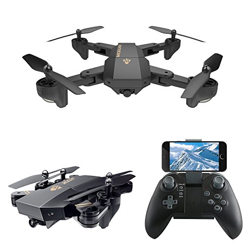 LeaningTech XS809W WiFi FPV pieghevole RC Quadcopter with Camera 10 Minutes, 2.4GHz 6-Axis Gyro...