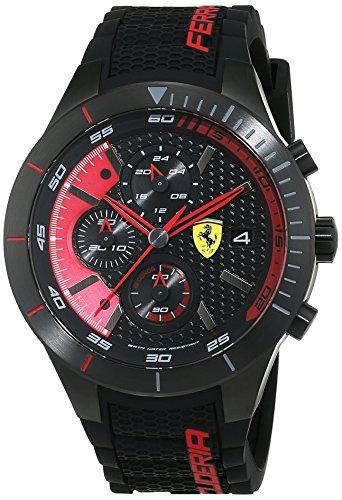 Orologio da Uomo al quarzo e cinturino in sillicone nero, Scuderia Ferrari 0830260