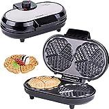 Macchine per Waffle | Waffle maker |  Piastra per Waffel a 10 cuori | cuoricini |  macchinetta per Waffel |  Waffel a cuore doppio | termostato