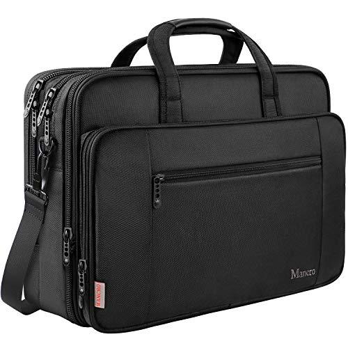 Borsa per laptop, valigetta da 17 pollici per uomo Donna Borsa da viaggio grande per laptop tracolla...