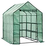 D4P Display4top Greenhouse Grow House with 8 Shelves,143 x 216 x 195 cm