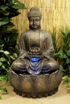 Ambiente Fuente de Jardín Buda en Meditación