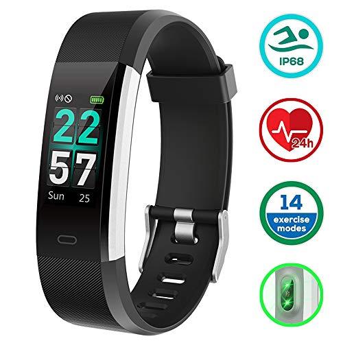 KUNGIX Orologio Fitness Tracker Smartwatch Android iOS Uomo Donna Cardiofrequenzimetro da Polso...