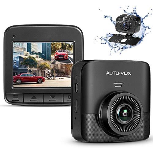 """AUTO-VOX FHD 1520P Dual Dashcam, Autokamera Vorne und Hinten mit AHD720P Rückfahrkamera, 2,4\"""" LCD Bildschirm, Nachtsicht, G-Sensor, Loop-Aufnahme, Bewegungserkennung, Parküberwachung, WDR"""