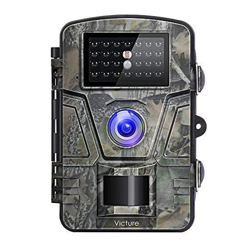 """Victure Wildkamera Fotofalle 1080P Full HD 12MP Jagd Wildkamera Weitwinkel Vision Infrarote 20m Nachtsicht Wasserdichte IP66 Überwachungskamera mit 2.4\""""LCD Display für Garten,Überwachung von Eigentum"""