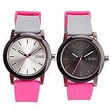 DWG Fashion Cinghia di silicone sport orologio da polso 2 Confezione di giapponesi Quarzo impermeabile Casual Simple Orologi
