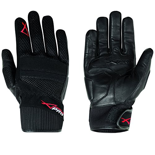 Hoehe Qualität Leder Textil Handschuhe Sommer Motorrad Roller Fahrrad 1