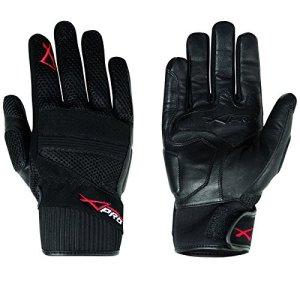 Hoehe Qualität Leder Textil Handschuhe Sommer Motorrad Roller Fahrrad 7