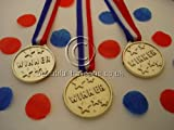 24 plastic winners medals - Perfect for Children's Parties, sports day, Olympics and Paralympics parties
