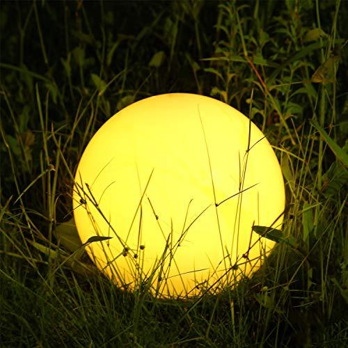 Albrillo RGB Lampada Solare, LED Luci Giardino Esterno con Telecomando, Diametro 20 cm con 12 Colori...