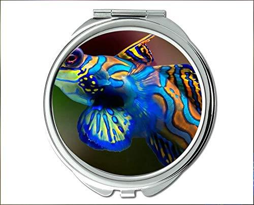 Specchio, specchio per il trucco, tema del pesce da gioco di Pocket Mirror, specchio portatile 1 X...