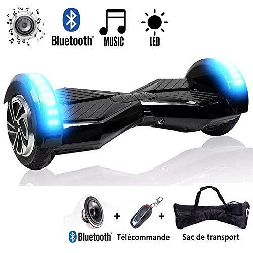 CHIC 8'' Hover Board Elettrico Unisex Adulto Bambino Scooter Elettrico a Due Ruote Bluetooth con LED...